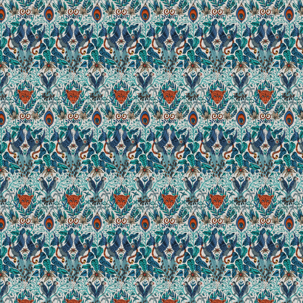 Emma J Shipley Amazon Blue Wallpaper - Product code: W0098/01