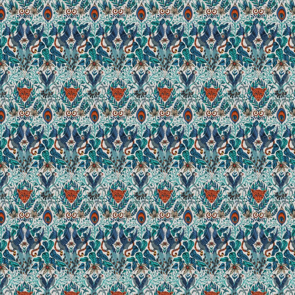 Amazon Wallpaper - Blue - by Emma J Shipley
