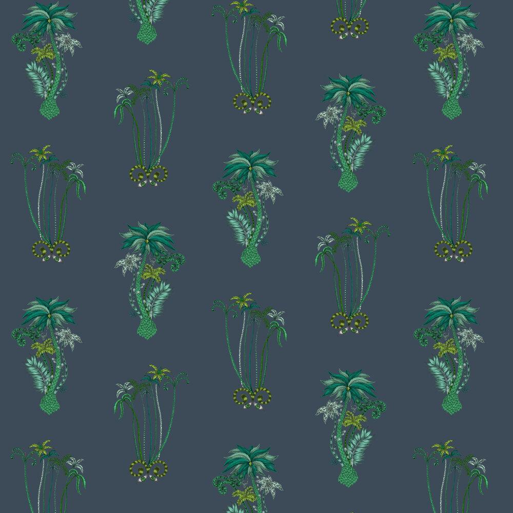 Emma J Shipley Jungle Palms Navy Wallpaper - Product code: W0101/03