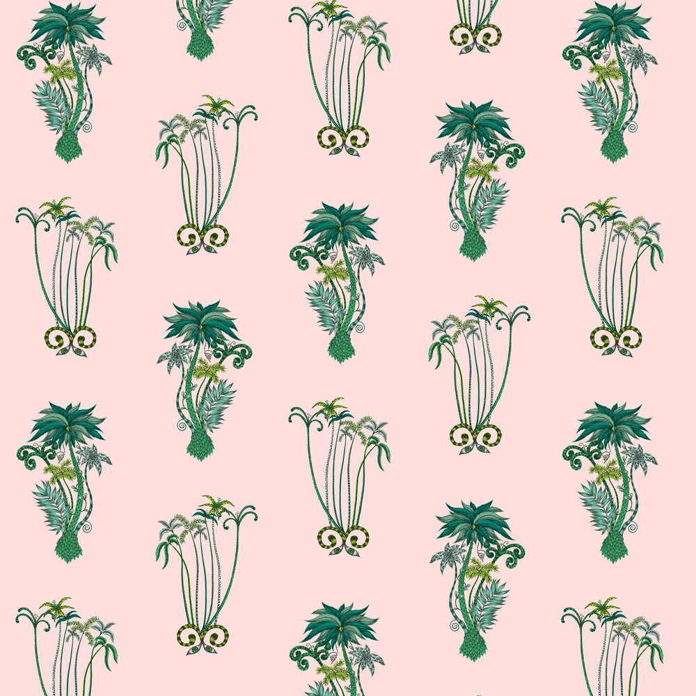Emma J Shipley Jungle Palms Pink Wallpaper - Product code: W0101/04