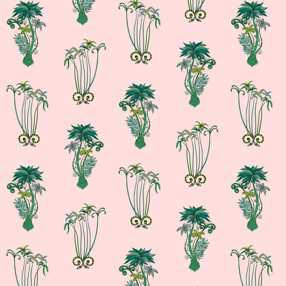 Jungle Palms Wallpaper - Pink - by Emma J Shipley