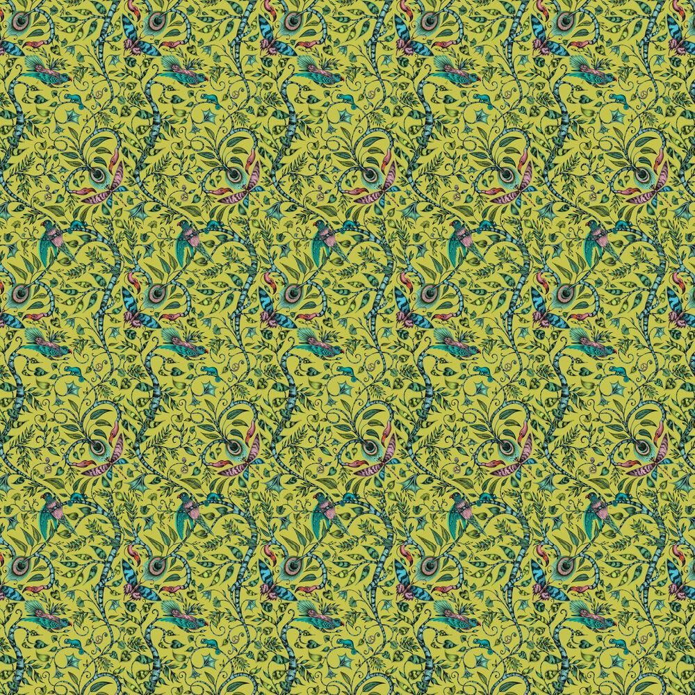 Rousseau Wallpaper - Lime - by Emma J Shipley