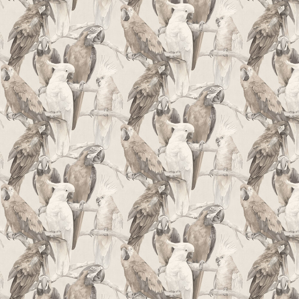 Parrots Wallpaper - Neutral - by Albany