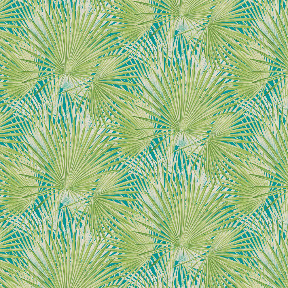 Palm Leaves Wallpaper - Jade - by Albany