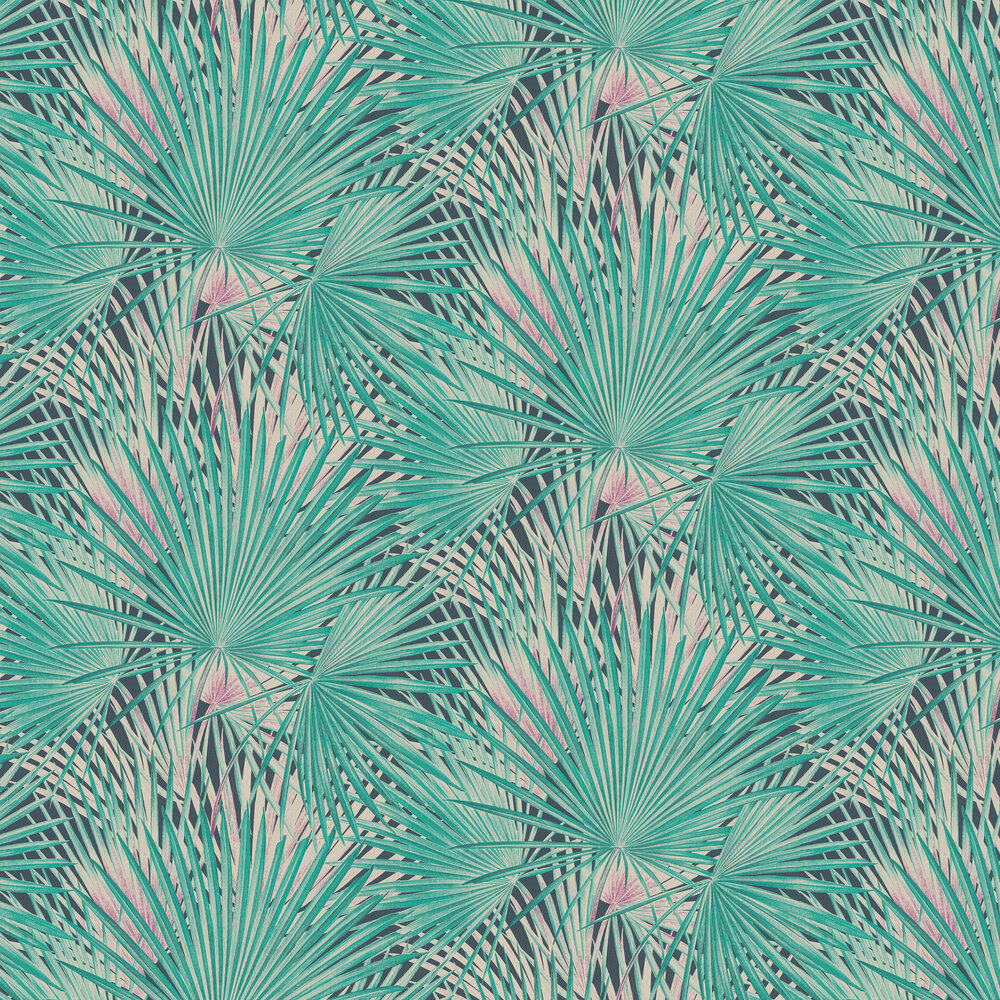 Albany Palm Leaves Emerald Wallpaper - Product code: 803327