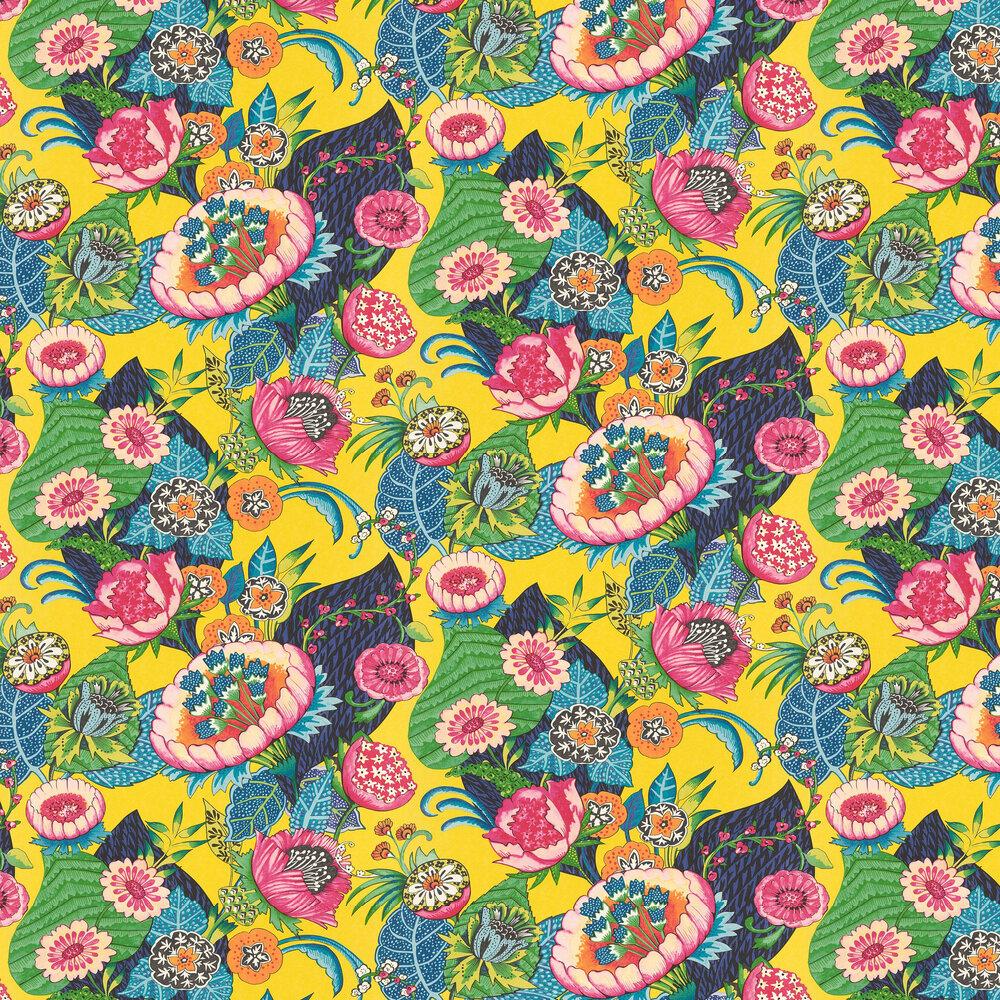 Bohemian Flower By Albany Mustard Wallpaper Wallpaper Direct