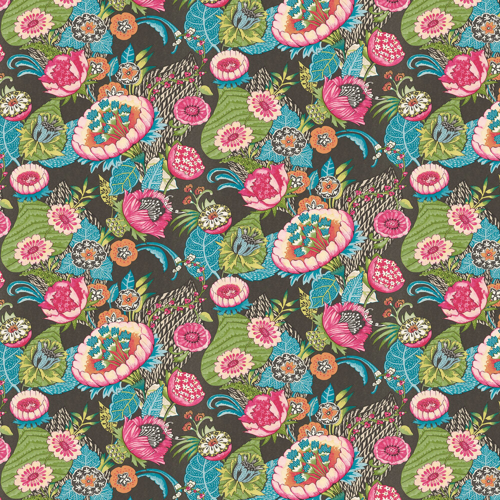 Albany Bohemian Flower Charcoal Wallpaper - Product code: 803631