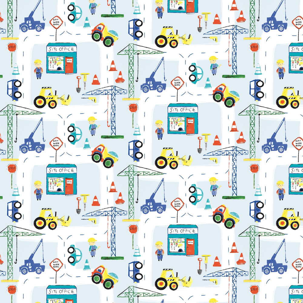 Albany Roadworks Ahead Blue Wallpaper - Product code: 11051