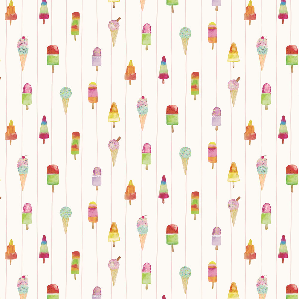 Lollipops Wallpaper - Pink - by Albany