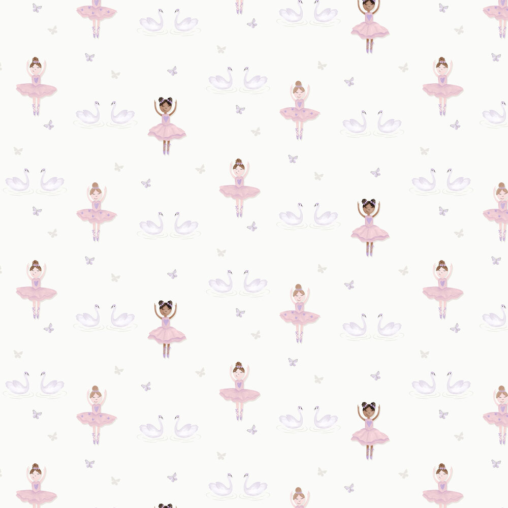 Ballerina Wallpaper - Cream - by Albany