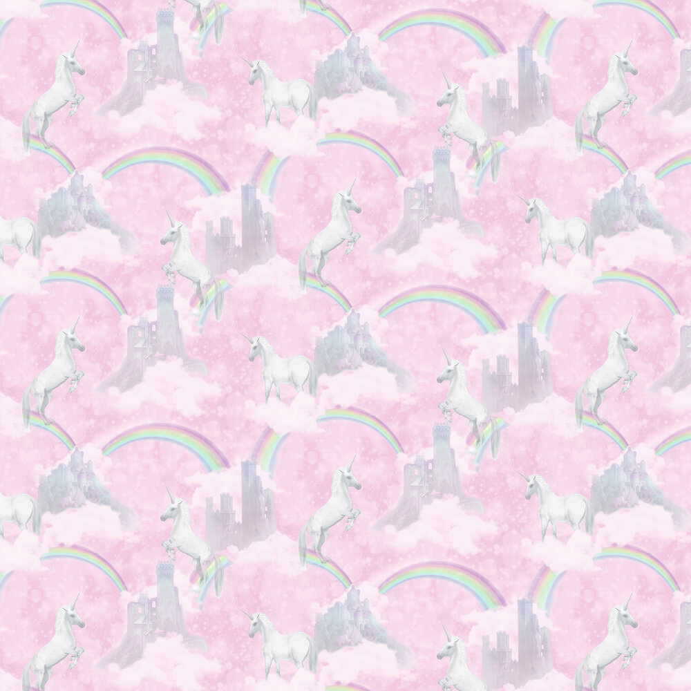 I Believe In Unicorns Wallpaper - Pink - by Albany