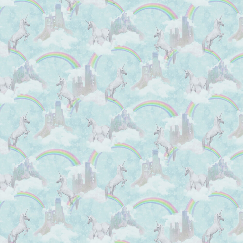 Albany I Believe In Unicorns Teal Wallpaper - Product code: 12481