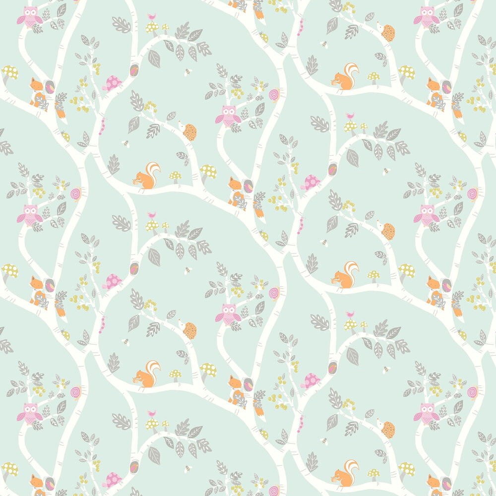 Albany Woodland Adventure Teal Wallpaper - Product code: 12490