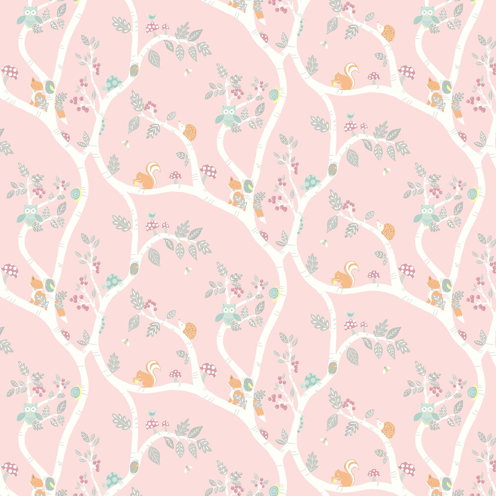 Woodland Adventure Wallpaper - Pink - by Albany
