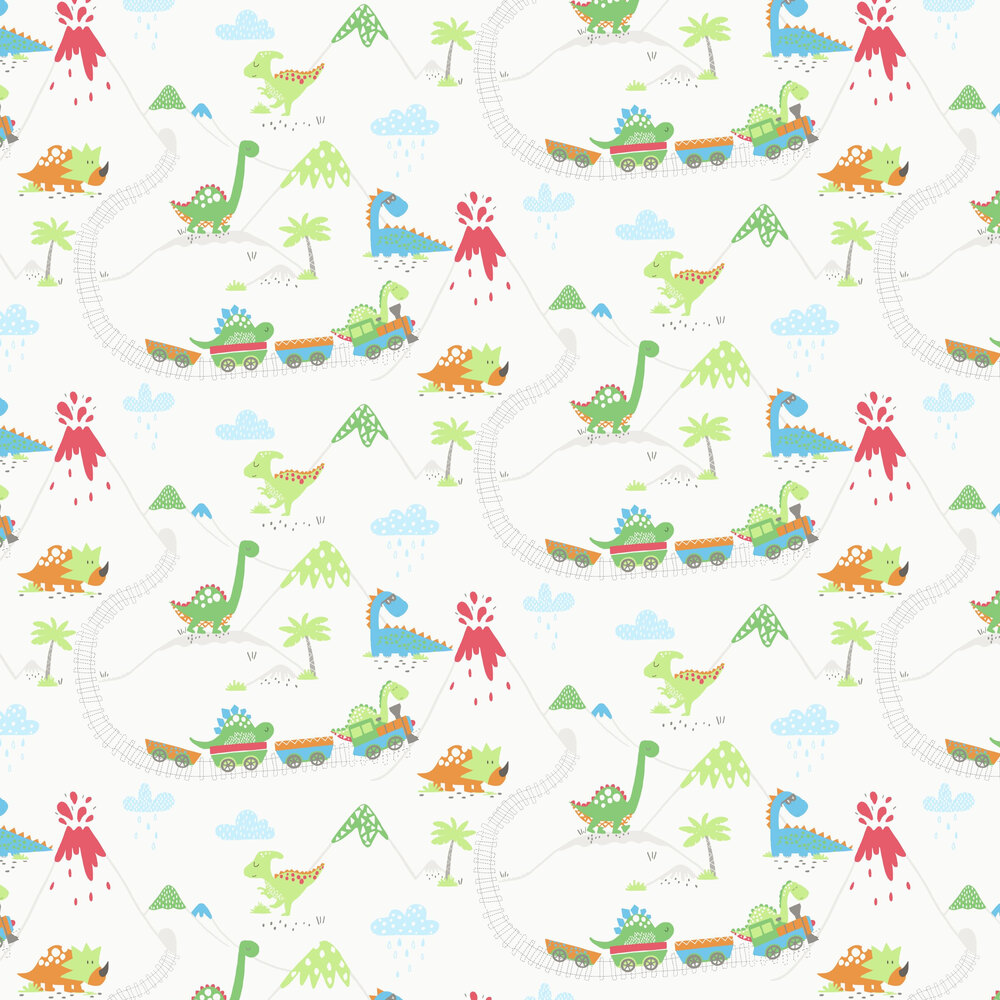 Dino Town Wallpaper - Multi - by Albany