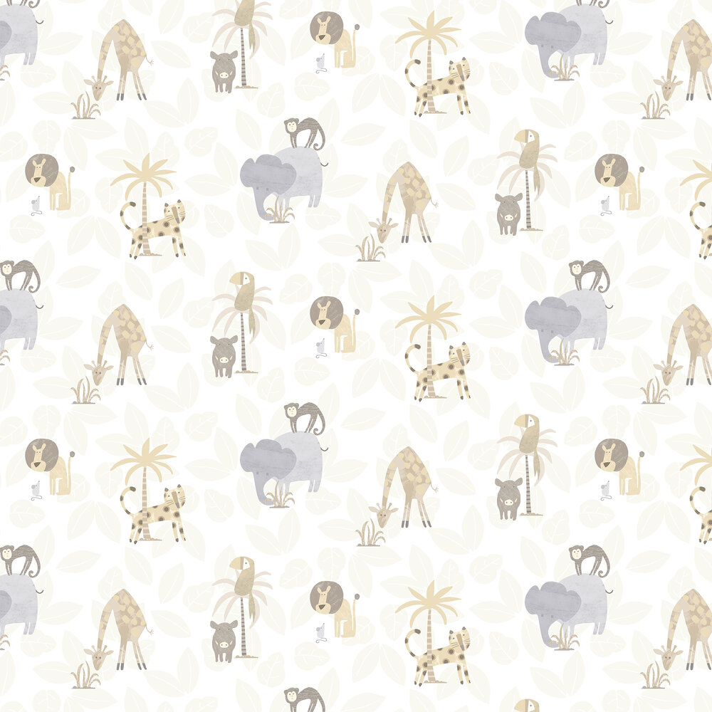 Jungle Friends Wallpaper - Neutral - by Albany