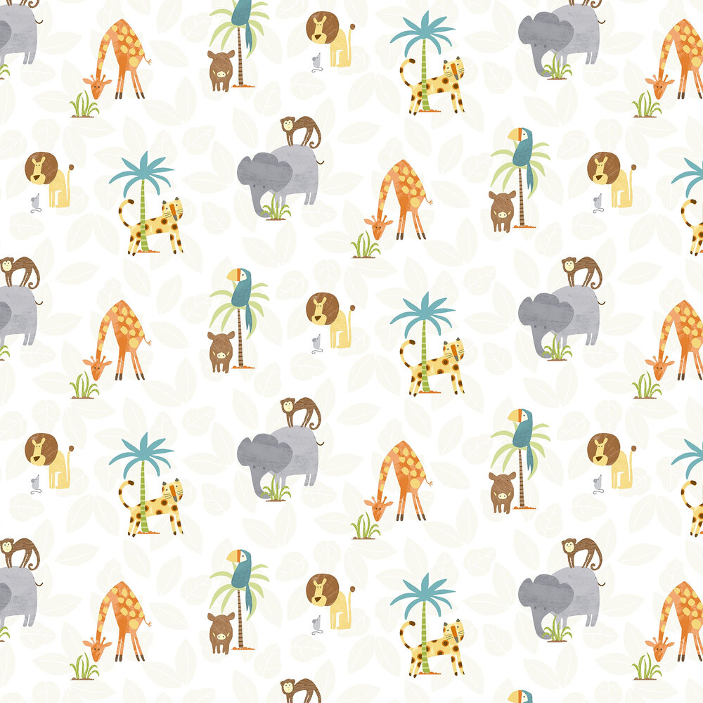 Jungle Friends Wallpaper - Multi - by Albany