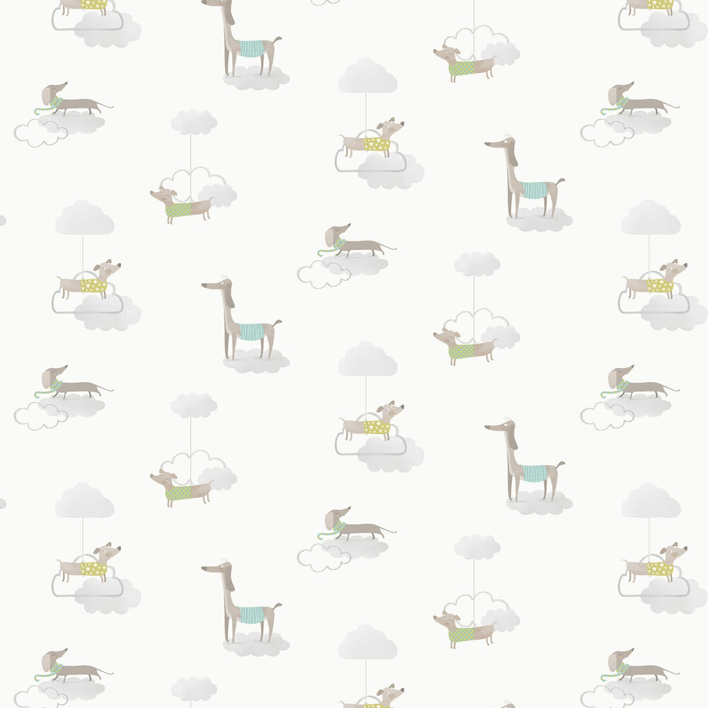 Walkies Wallpaper - Grey - by Albany