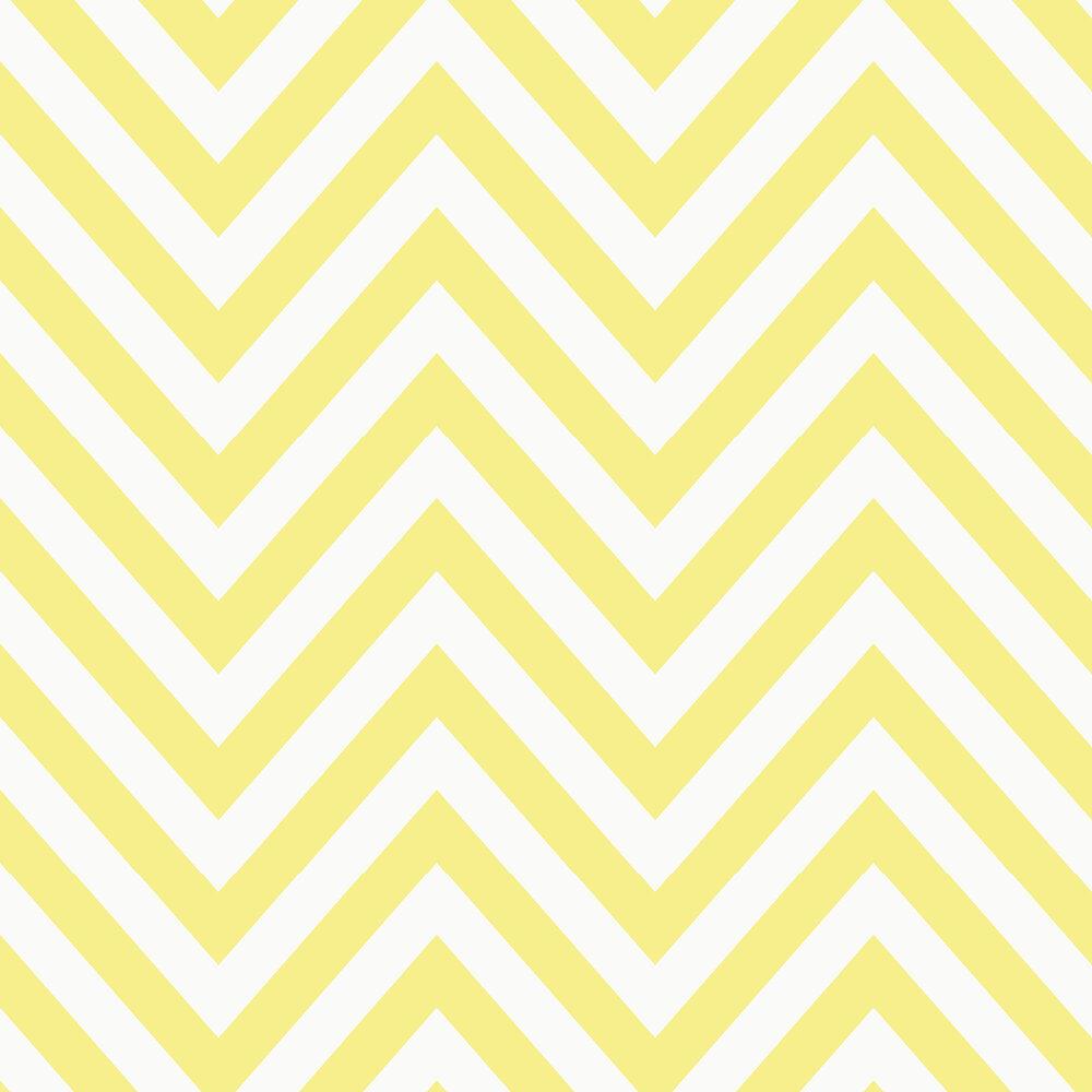 Chevron Wallpaper - Yellow - by Albany