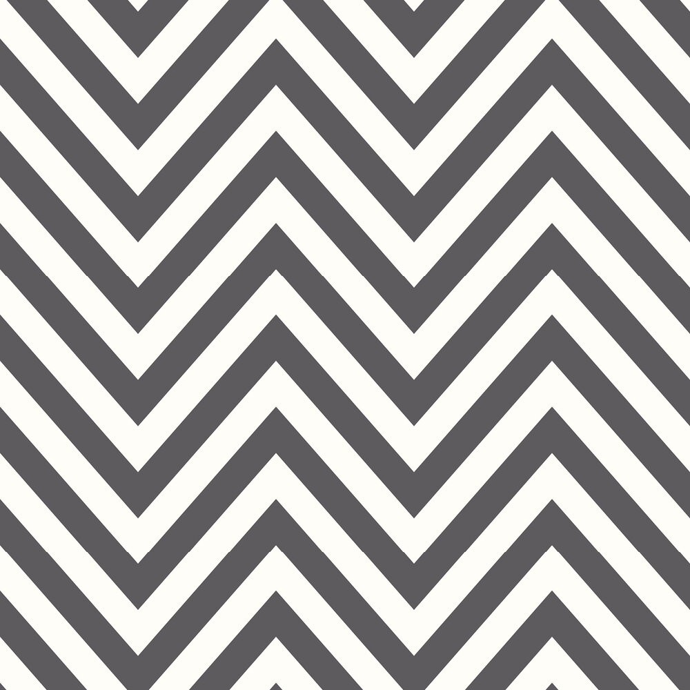 Chevron Wallpaper - Black and White - by Albany