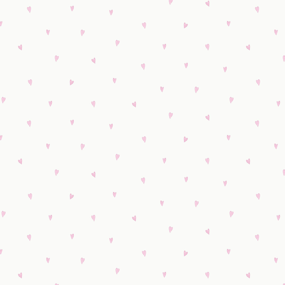 Love Hearts Wallpaper - Pink - by Albany