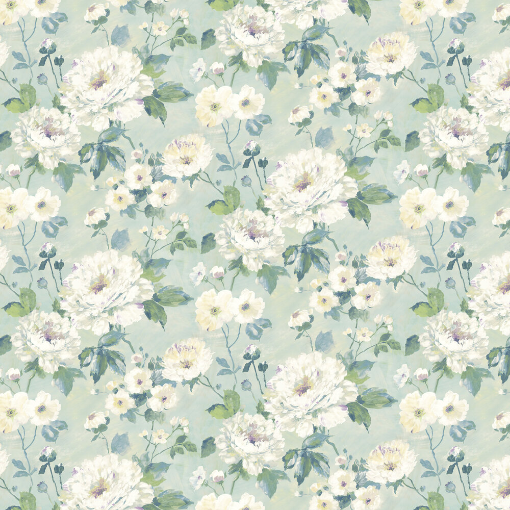 Albany Fiore Bloom Duck Egg Wallpaper - Product code: FO3103