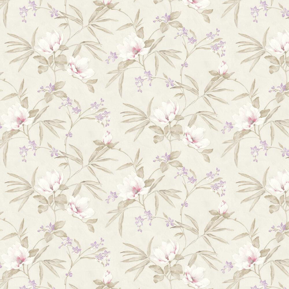Fiore Oriental Wallpaper - Linen - by Albany
