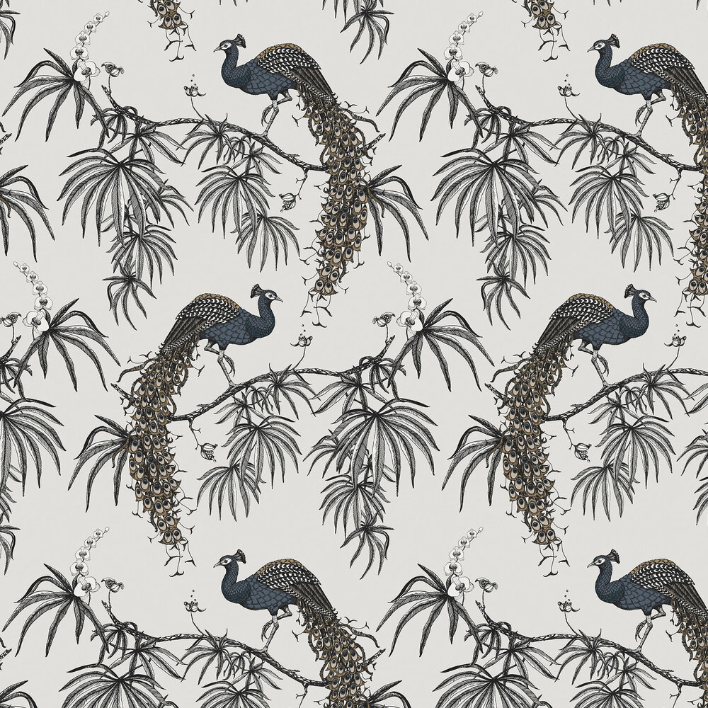 Carmen Wallpaper - Dark Blue / Grey - by Fardis