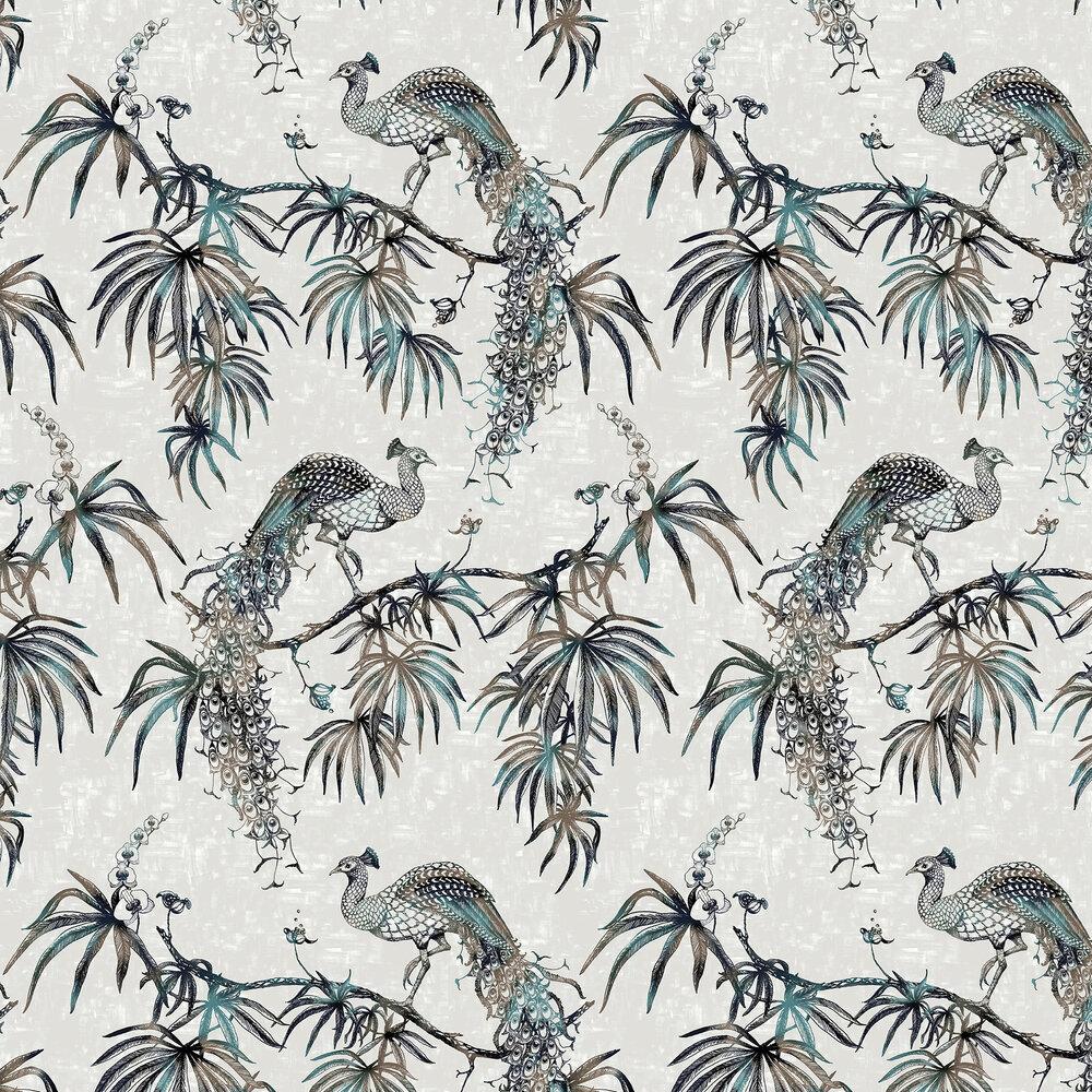 Eterno Wallpaper - Blue Multi / Silver - by Fardis