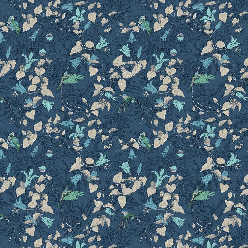 Lucia Wallpaper - Blue - by Fardis