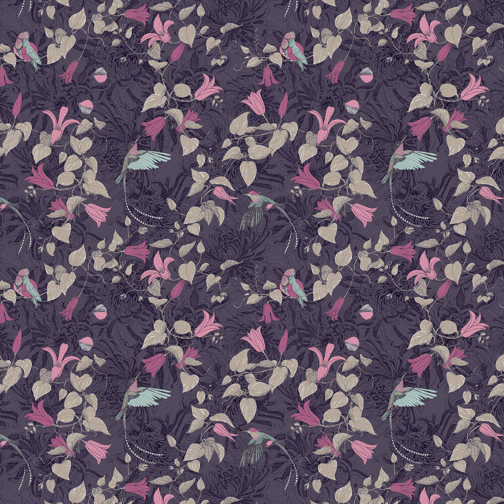 Lucia Wallpaper - Purple - by Fardis
