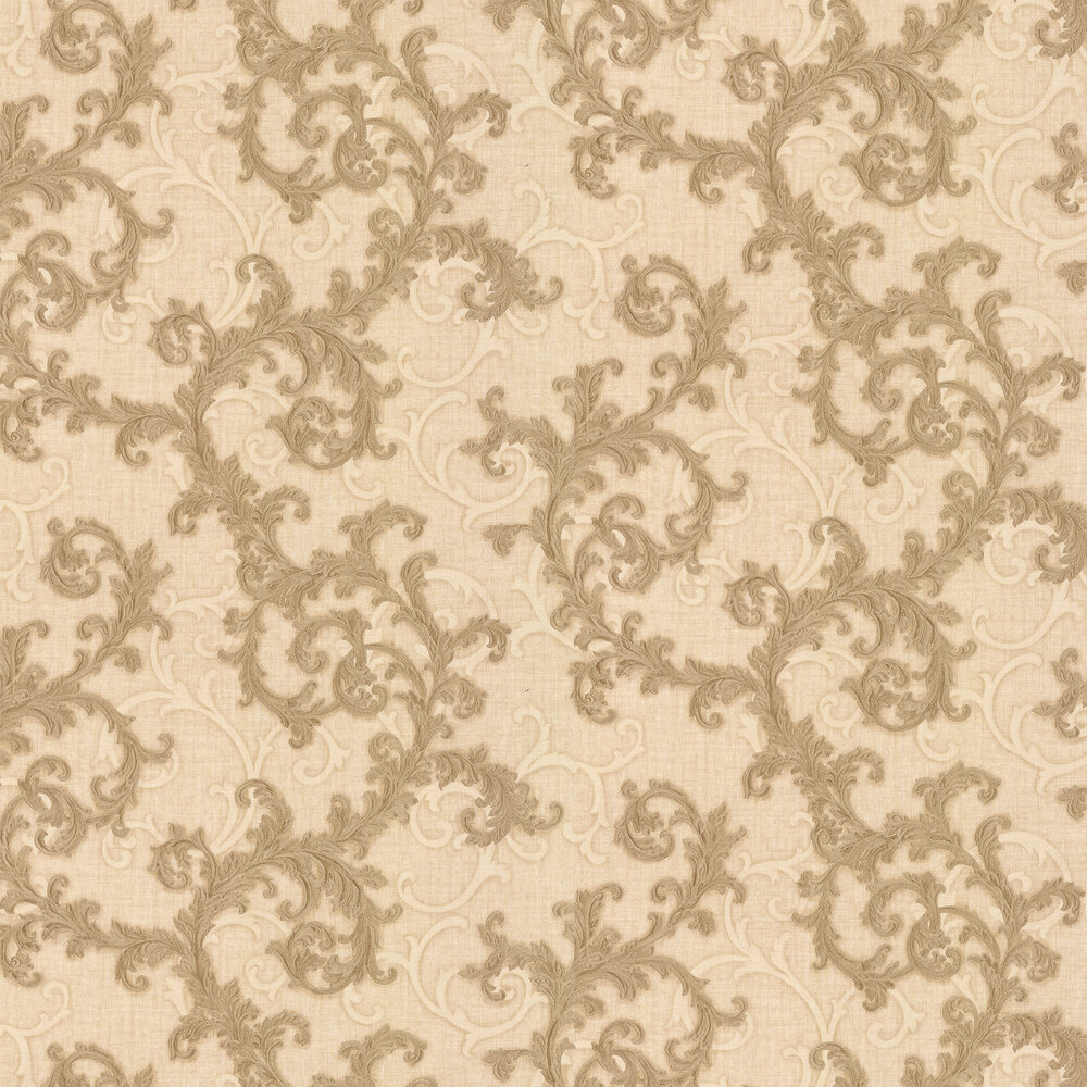 Versace Baroque & Roll Beige Wallpaper - Product code: 96231-2