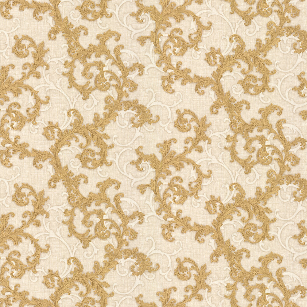 Versace Baroque & Roll Gold Wallpaper - Product code: 96231-3