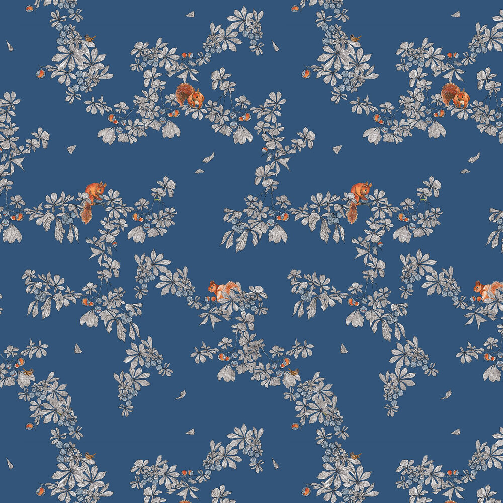 Petronella Hall Conker Midnight Wallpaper - Product code: C-WM