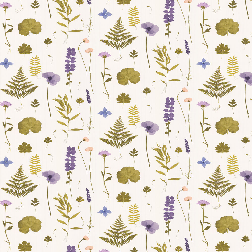 Clarke & Clarke Herbarium Heather Wallpaper - Product code: W0091/03