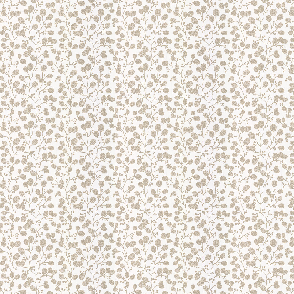 Honesty Wallpaper - Ivory / Gold - by Clarke & Clarke