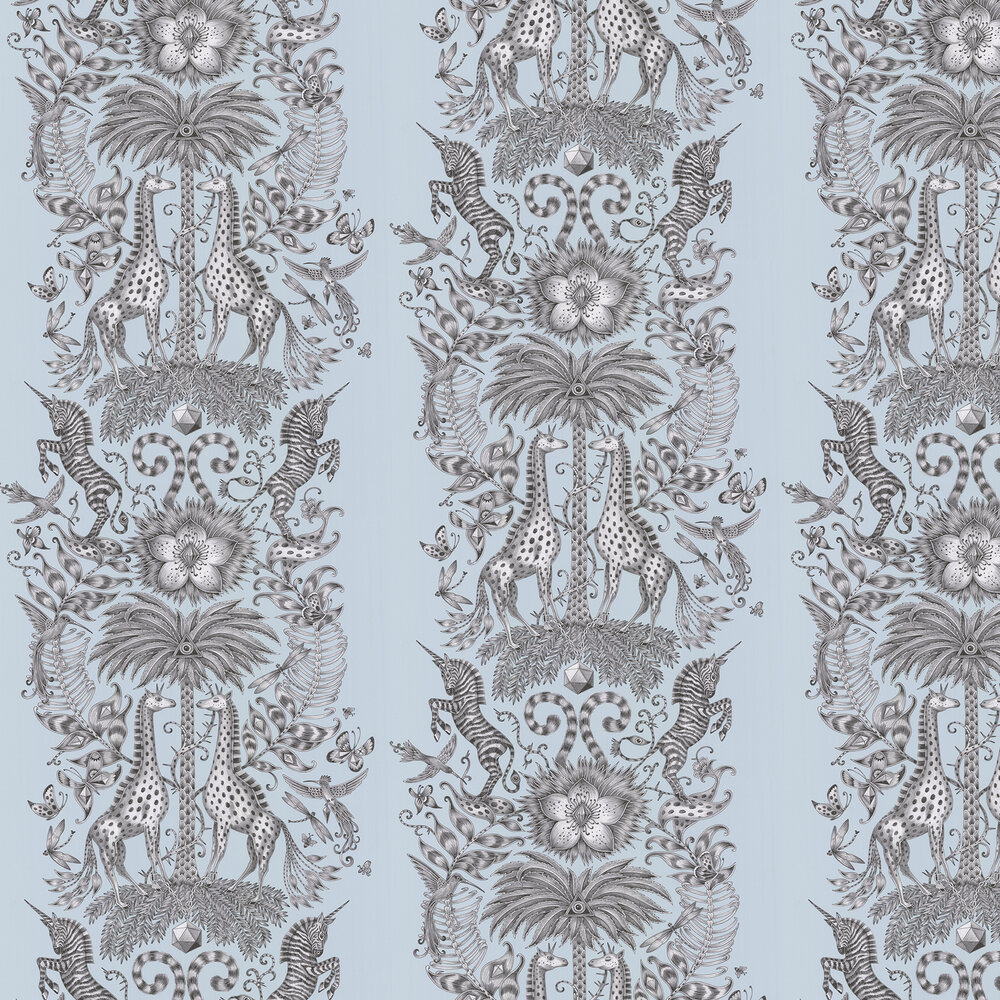 Emma J Shipley Kruger Duck Egg Wallpaper - Product code: W0102/01