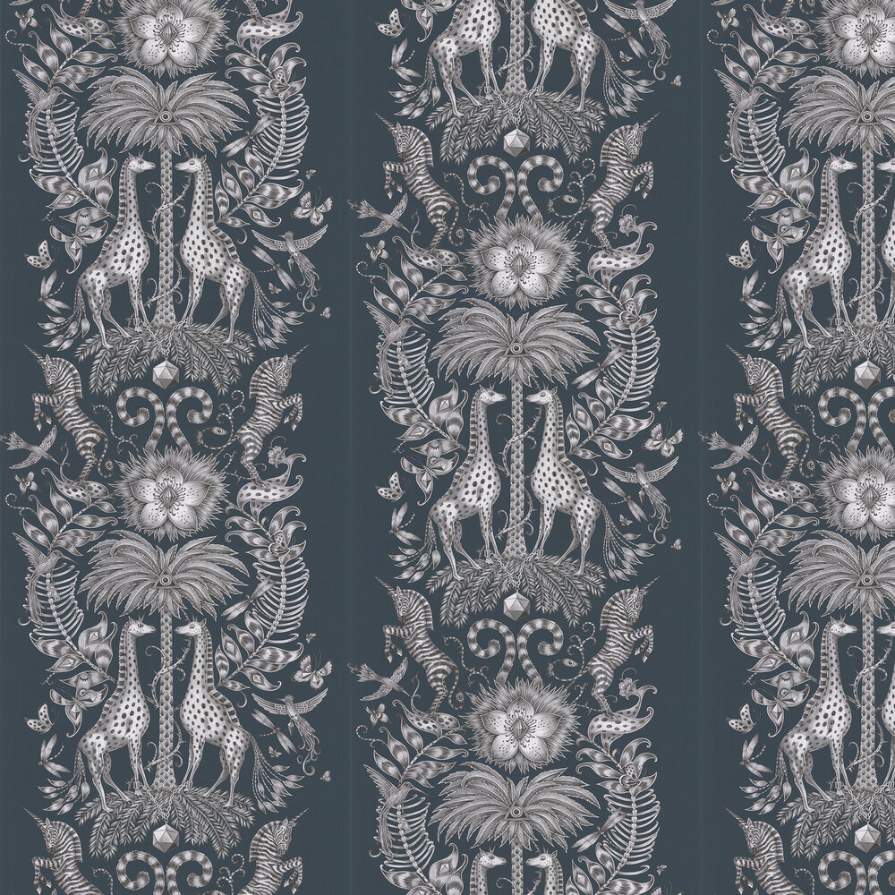 Kruger Wallpaper - Navy - by Emma J Shipley