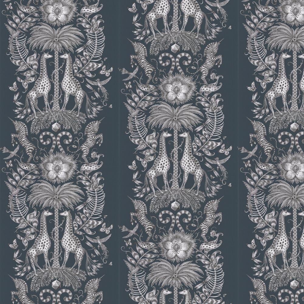 Emma J Shipley Kruger Navy Wallpaper - Product code: W0102/06