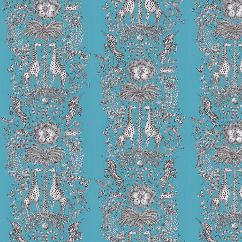Kruger Wallpaper - Teal - by Emma J Shipley
