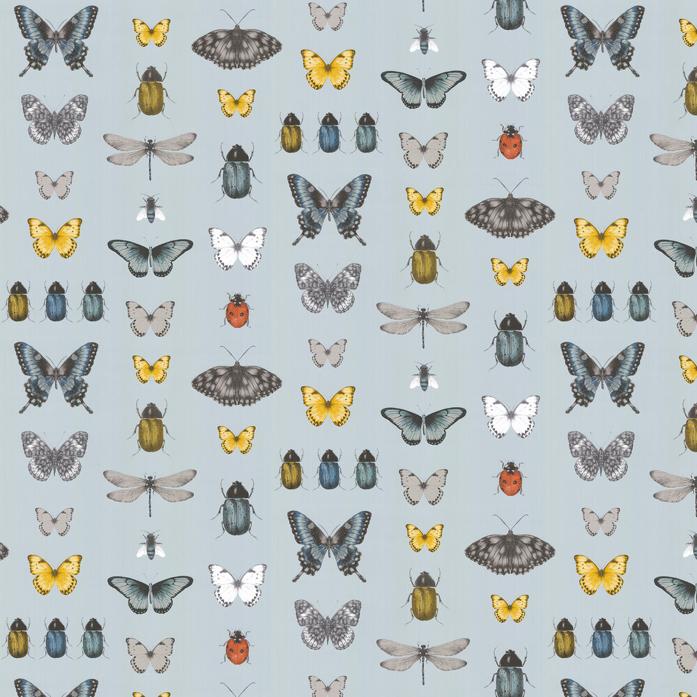 Papilio Wallpaper - Mineral / Gilver - by Clarke & Clarke