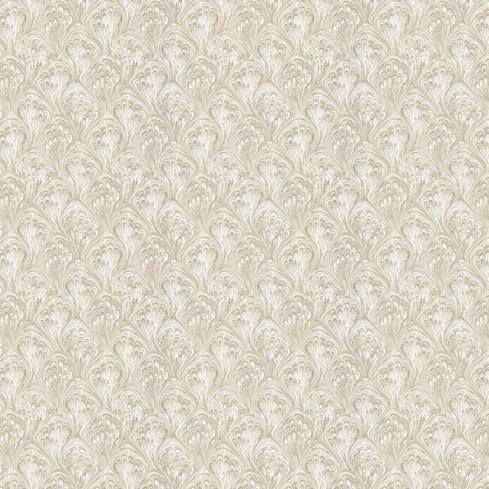 Clarke & Clarke Pavone Ivory / Gold Wallpaper - Product code: W0095/03
