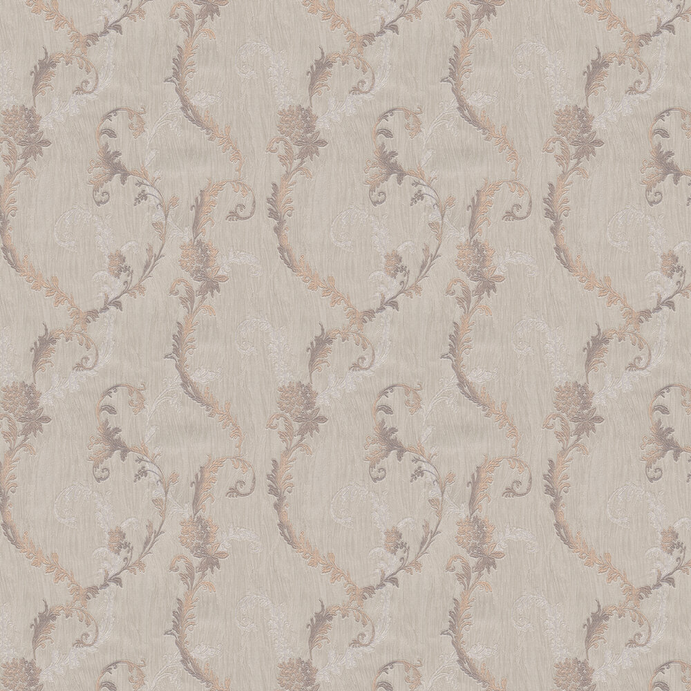Albany Tiffany Oyster Trail Rose Wallpaper - Product code: 76003