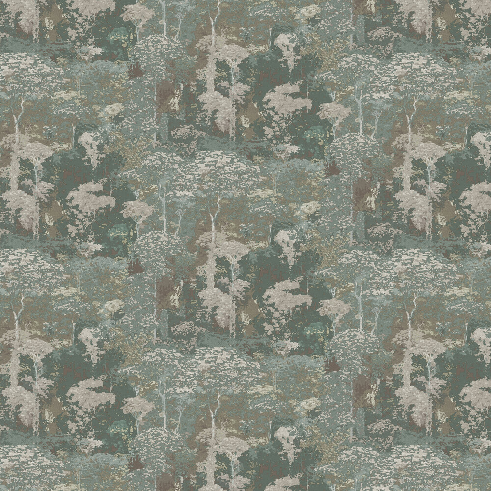Coordonne Claude Green Wallpaper - Product code: 6600025