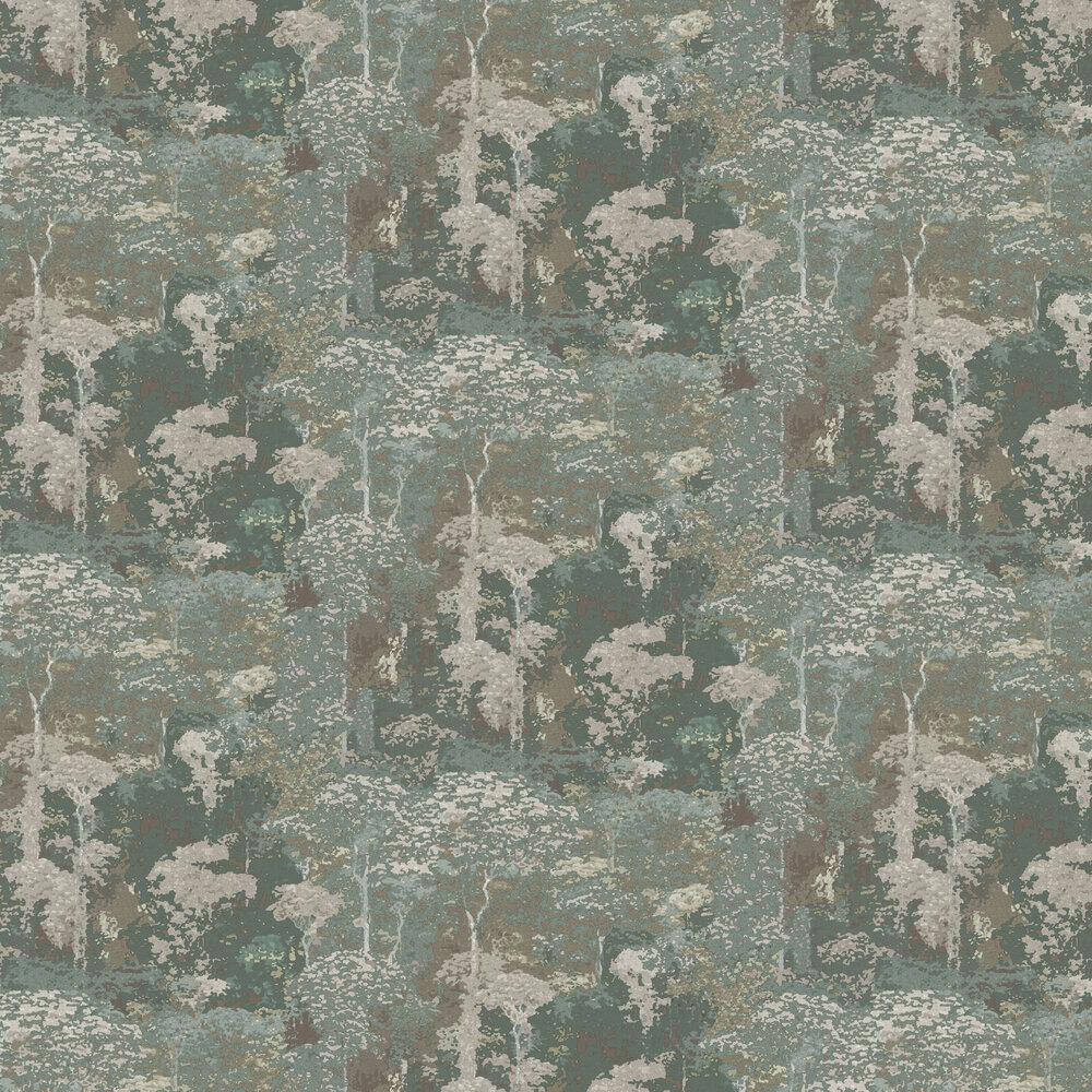 Claude Wallpaper - Green - by Coordonne