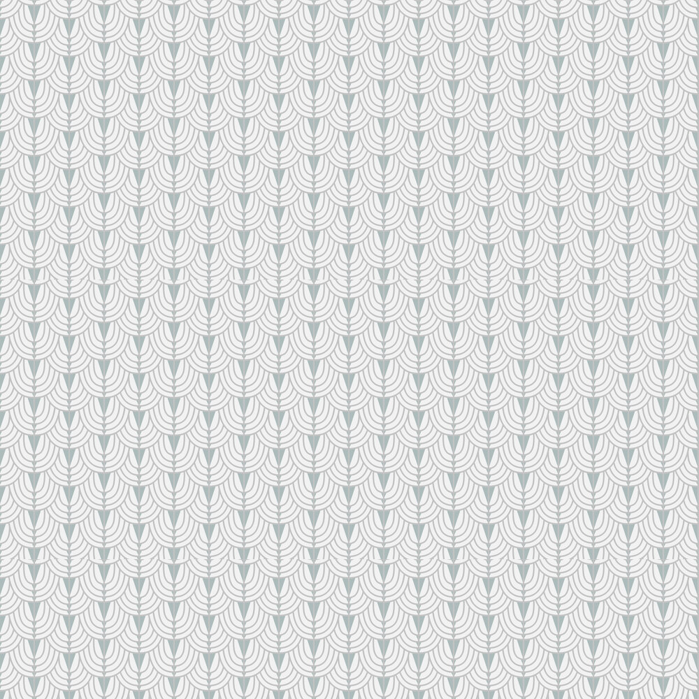 Coordonne Camille Silver / Duck Egg Wallpaper - Product code: 6600044