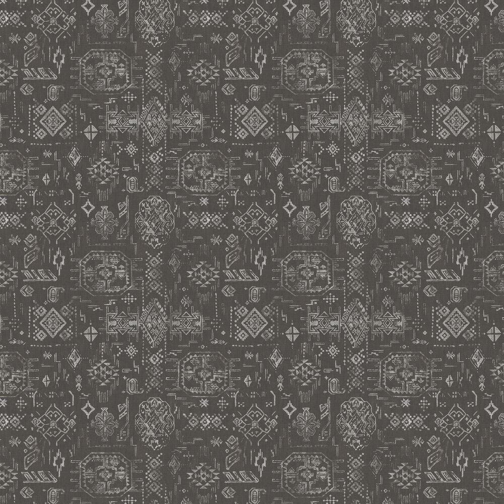 Ethnic Pattern Wallpaper - Black / Grey - by Galerie
