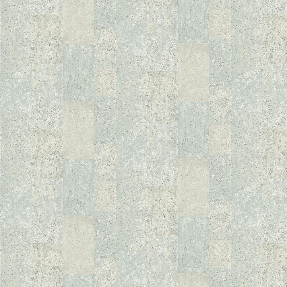 Galerie Cork Tile Sea Green Wallpaper - Product code: G56396
