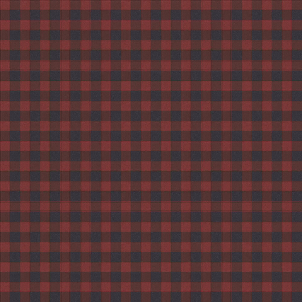 Check Wallpaper - Red / Black - by Galerie