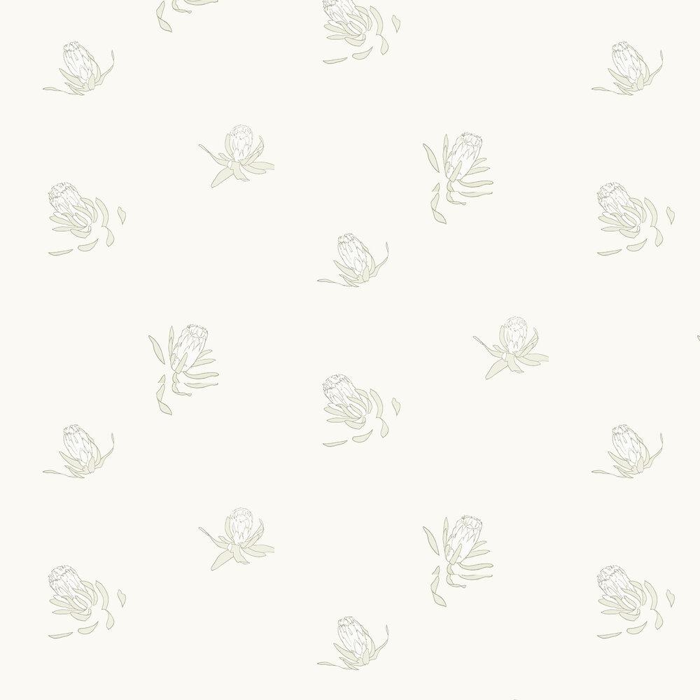 Buds Wallpaper - Sharkskin - by Paint & Paper Library